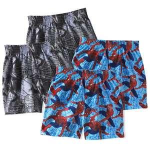 Hanes   Little Boys Spider Man Boxer Shorts, 4 Pack Boys