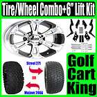 Club Car Golf Cart 6 Lift Kit+12 Wheel and Tire Combo
