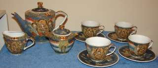ANTIQUE SATSUMA TEA SET   MADE IN CHINA   11 PIECE SET   VERY OLD