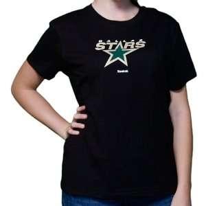 Dallas Stars black womens Logo tee shirt  Sports