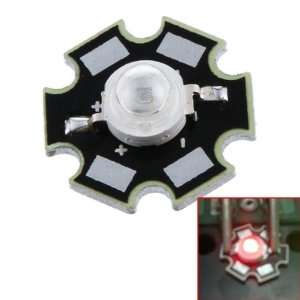 3W High Power Star LED Light Lamp Bulb (Red)