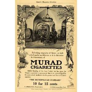Murad Cigarettes Hotel Astor NY   Original Print Ad Home & Kitchen