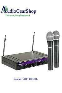 Gemini VHF 2001 HL Dual Channel Handheld Wireless Microphone