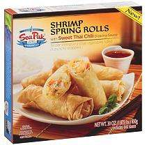 SeaPak® Shrimp Spring Rolls with Sweet Thai Chili Dipping Sauce   32