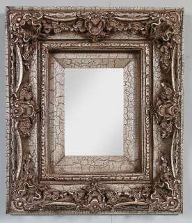 Silver Leaf Crackle Mirror 10 x 12 Decorative New Nice