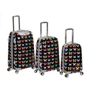Rockland Vision 3 Piece Polycarbonate/ABS Spinner Luggage
