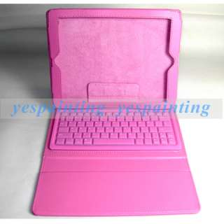 Bluetooth Keyboard Leather Case Cover + USB Cable For iPad 2 NEW