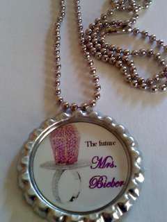Mrs. Justin Bieber ring pop pendant Charm and necklace chain