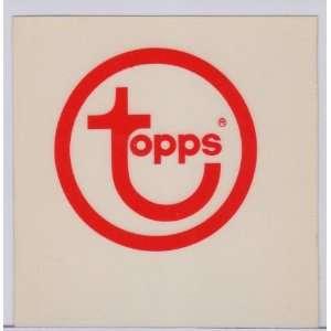 Vintage 1970s Topps Co. Logo Window Cling/Sticker
