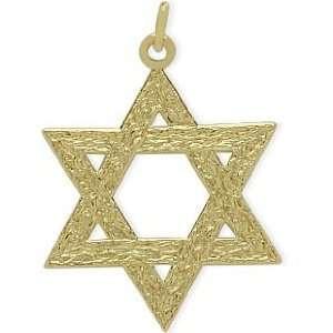 14 Karat Yellow Gold Large Star of David Pendant Jewelry