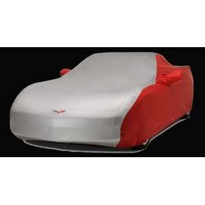 Corvette Car Cover   Two Tone C6 Embroidered Logo Red