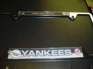 NEW YORK YANKEES METAL CAR AUTO MLB LICENSE PLATE FRAME