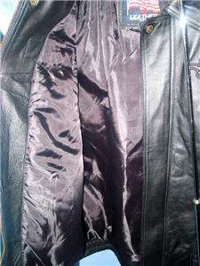 HARLEY DAVIDSON MENS BLACK LEATHER MOTORCYCLE JACKET COAT XL