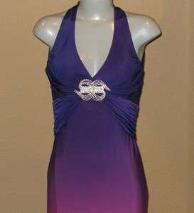 NWT JOVANI BEYOND Purple Ombre Long Prom Gown $447 Sz 2