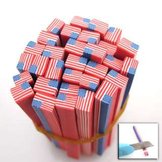 20x Red USA Flag Fimo Polymer Clay Cane Nail Art 250030