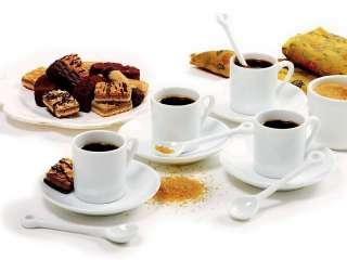 Porcelain 12 pc. Demitasse Set Cup Saucer Spoon coffee tea
