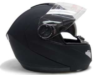 BLACK DUAL VISOR MODULAR MOTORCYCLE FLIP UP HELMET ~XL