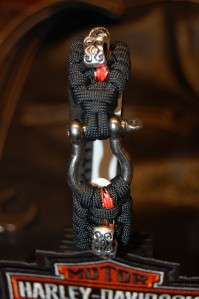The ULTIMATE Harley Davidson Paracord Survival Bracelet Black