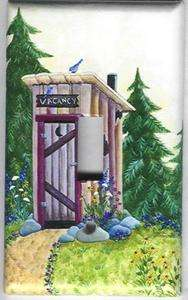 OUTHOUSE IN THE WOODS LIGHT SWITCH PLATE COVER