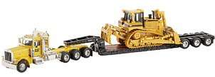 50 scale Peterbilt 389 truck, trailer & Cat D8 dozer