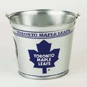 Leafs Galvanized Pail 5 Quart   NHL Ice Buckets Kitchen & Dining