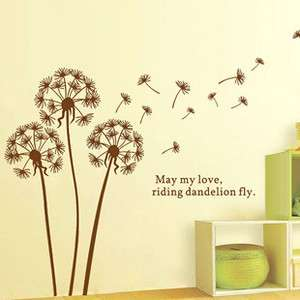 Removable HD Dandelion Flower Tree in the wind Wall Sticker#002