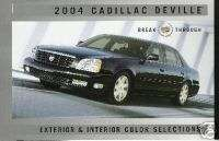Mint 2004 CADILLAC DEVILLE PAINT CHIPS COLOR CHART 04