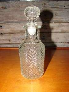 Vintage Avon Green Marbelized Milk Glass Perfume Bottle