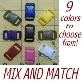 contour 3/8 buckles paracord survival bracelet u pick the colors