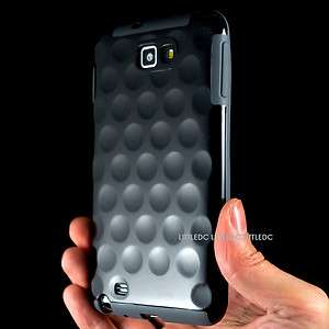 Black Bubble Shell Hard Case Cover for Samsung Galaxy Note i9220 N7000