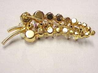 NICE Lot Vintage Rhinestone Crystal Brooch Pins Earrings