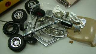 Vintage 9 Plastic Model Cars Trucks Junkyard Lot for Parts or Fix Ford