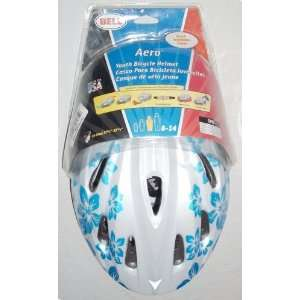 Youth Aero White Floral Bike Helmet Size 8   14