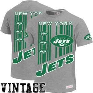 York Jets Vintage Touchback Premium T Shirt   Gray: Sports & Outdoors