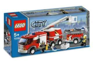 This is a NEW LEGO 7239 FIRE FIGHTER SET RESCUE TRUCK 214 PIECES