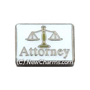 Attorney Scales Floating Locket Charm