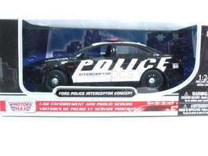 MotorMax FORD POLICE INTERCEPTOR CONCEPT 911 CAR 1/24