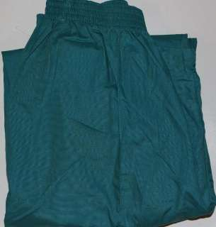 SCRUB STATION WOMEN TEAL GREEN Front Seam ELASTIC PANTS MEDICAL