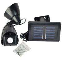 Solar Power Black MOTION Sensor SECURITY LIGHT Garden Outdoor Lighting