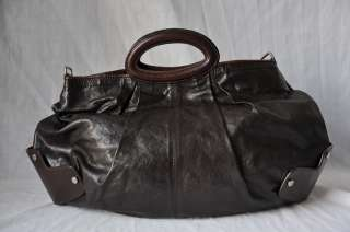 MARNI Dark Brown*BALLOON BAG*Leather Handbag Purse+Messenger Strap