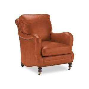Williams Sonoma Home Drew Chair, Tuscan Leather, Persimmon