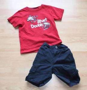 Gymboree Boys Stunt Double Monkey 2 piece short outfit 3