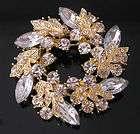 Erte Alphabet Letter Swarovski Crystals Gold Pin w/ COA