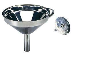 Norpro 18/10 Stainless Steel Funnel With Strainer NEW 028901002459