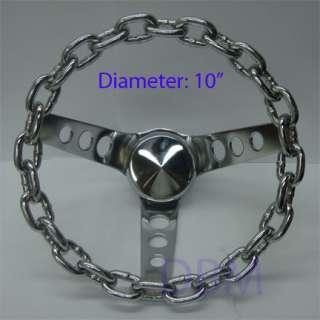 GRANT Lowrider Chrome Chain Link Steering Wheel 10