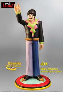 Rock Iconz Beatles Yellow Submarine John Lennon statue 812264010295