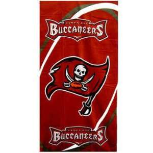Tampa Bay Buccaneers Beach/Bath Towel  Sports & Outdoors