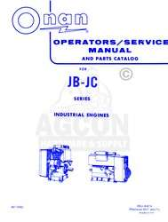 ONAN JB   JC Industrial Operators Parts Service Manual