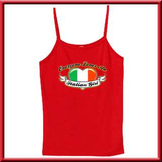 An Italian Girl Heart Flag WOMENS RIBBED TANK TOPS S,M,L,XL,2X