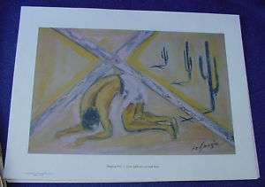 1964 DeGrazia Way Cross Station 7 Print Jesus Falls 2nd